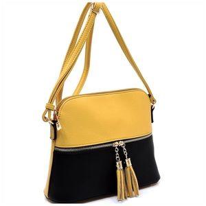 Handbags - Tassel Zip Dome Crossbody Bag Satchel